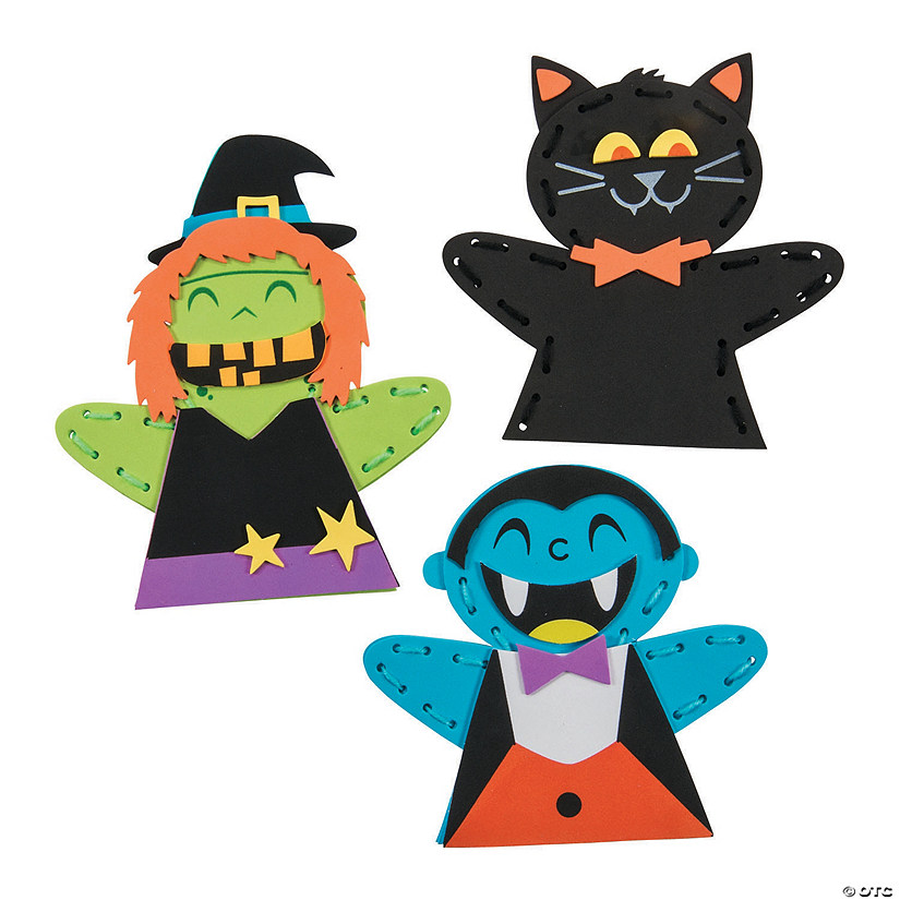 Halloween Lacing Puppet Craft Kit Audio Thumbnail