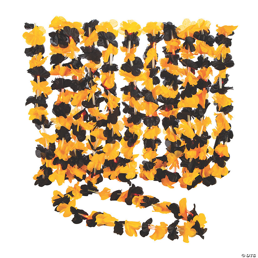 Halloween Light-Up Polyester Leis  - 12 Pc. Audio Thumbnail