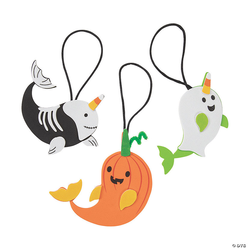 Halloween Narwhal Ornament Craft Kit Audio Thumbnail
