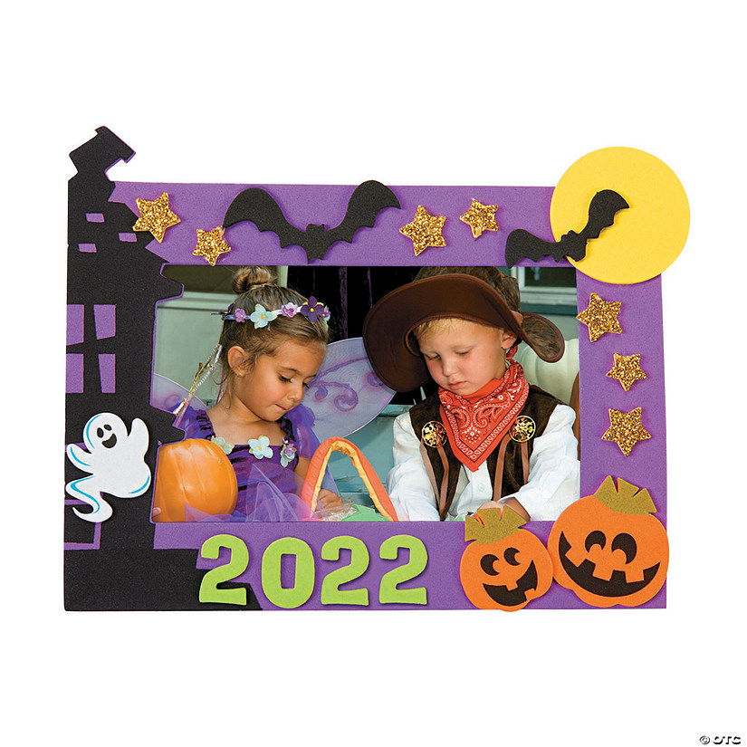 Halloween Picture Frame Magnet Craft Kit Image Thumbnail