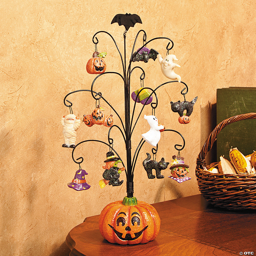 Halloween Pumpkin Tree with Ornaments - Discontinued