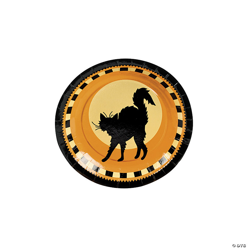 Halloween Silhouette Paper Dessert Plates - 8 Ct. Image Thumbnail