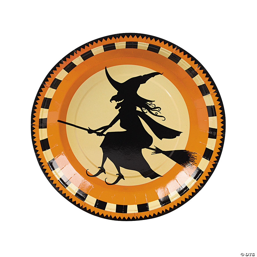 Halloween Silhouette Paper Dinner Plates - 8 Ct. Image Thumbnail