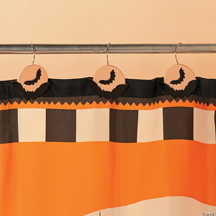 halloween silhouette shower curtain hooks
