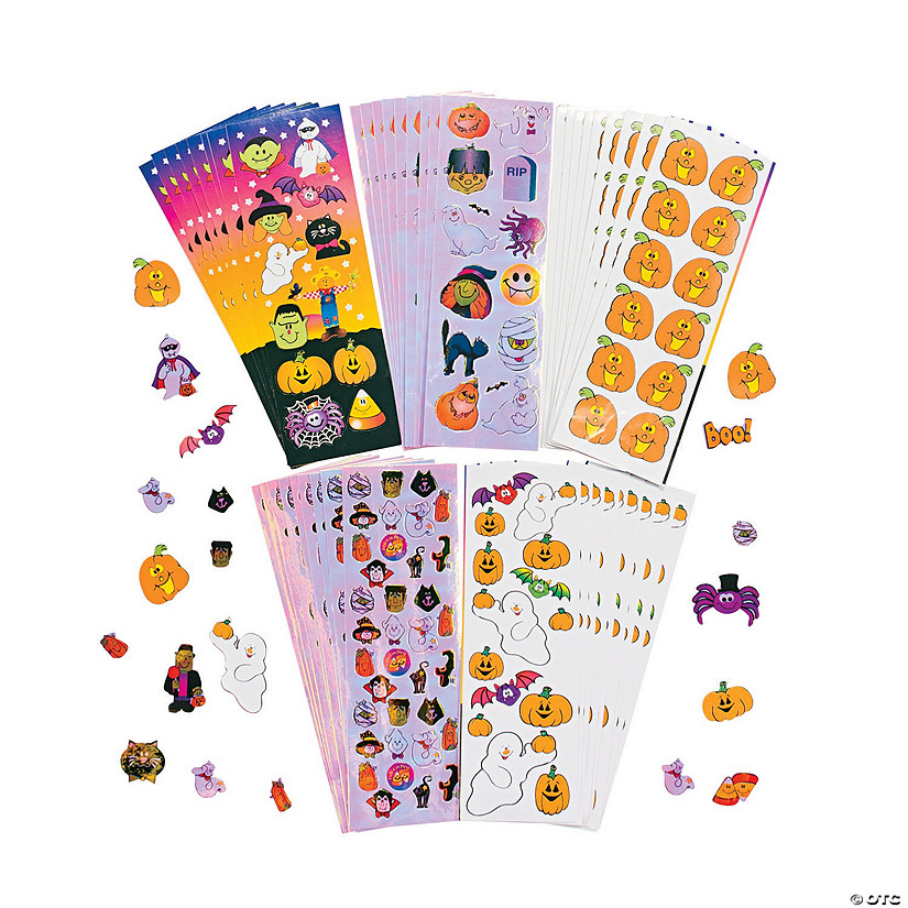 Halloween Sticker Assortment Image Thumbnail