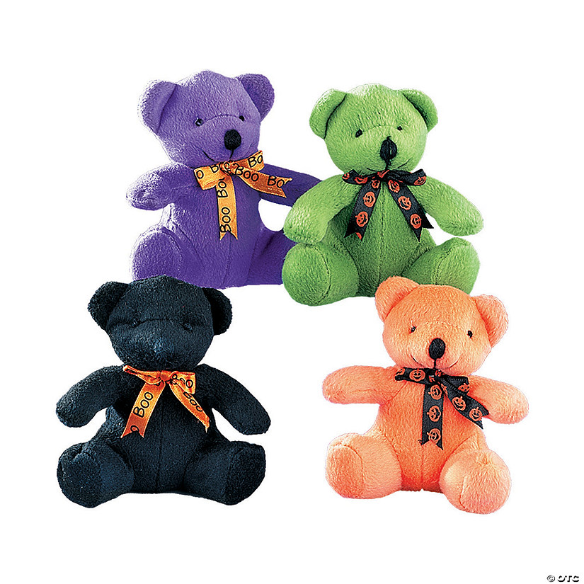 Halloween Stuffed Bears with Ribbons Image Thumbnail