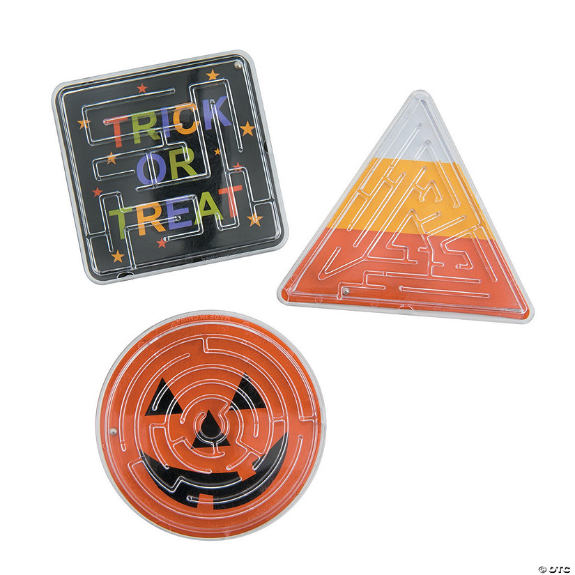 Halloween Trick-or-Treat Maze Puzzles