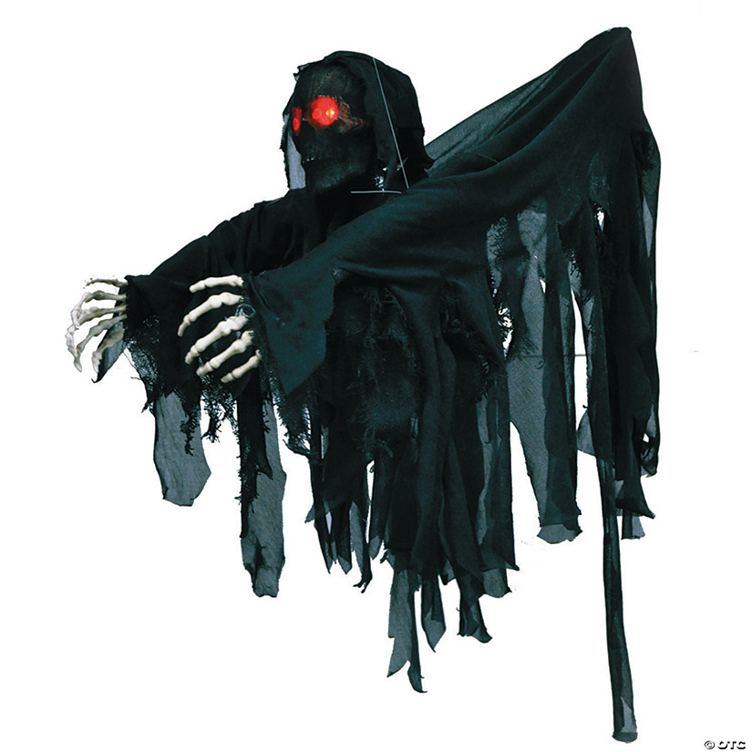 Hanging Black-Wrapped Ghoul Halloween Décor