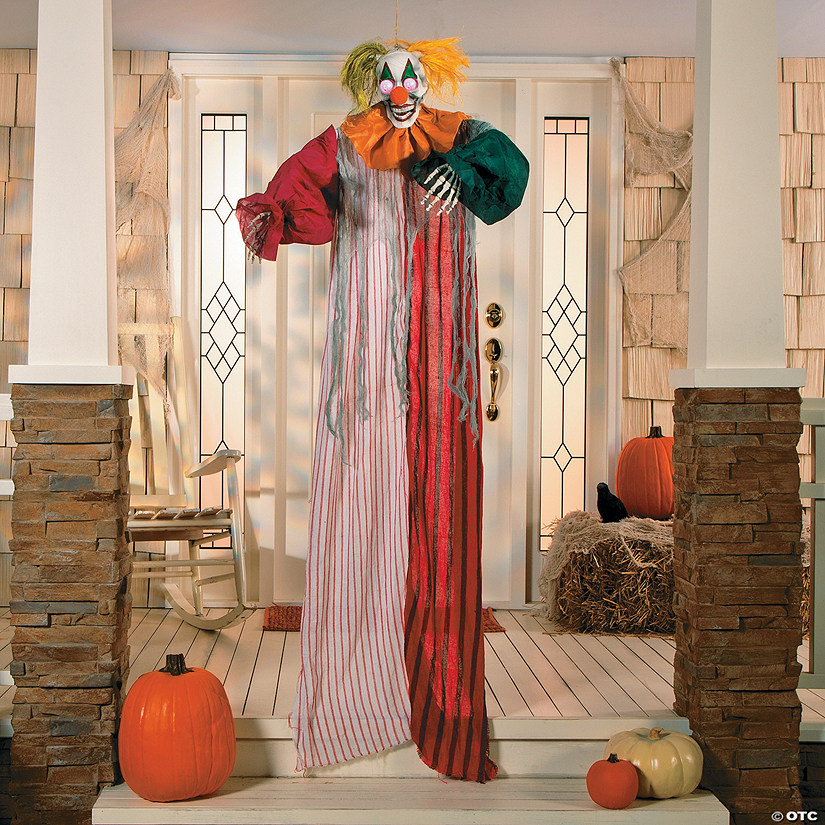 Hanging Clown with Light-Up Eyes Halloween Décor