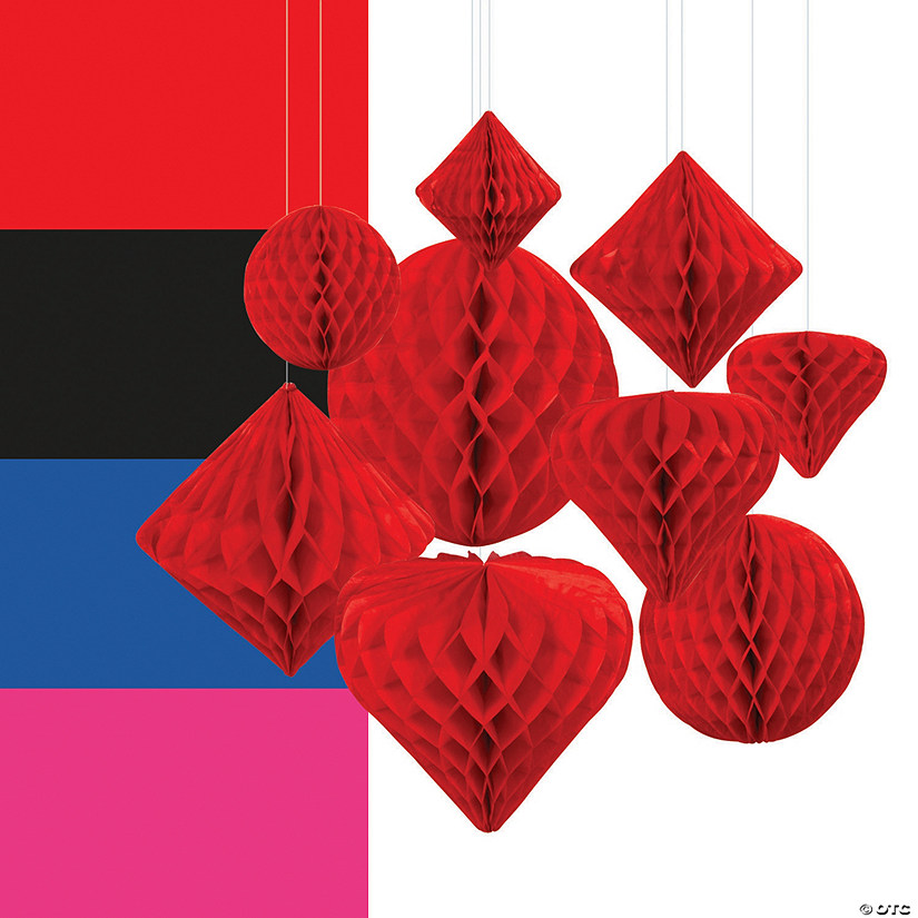 Hanging Paper Honeycomb Decoration Assortment Audio Thumbnail