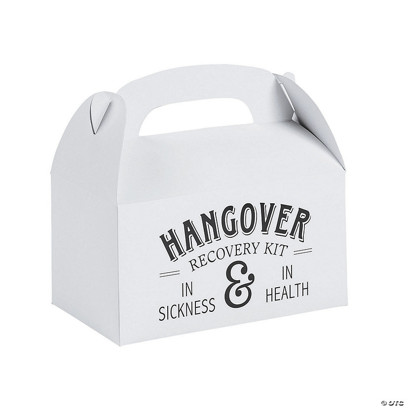 Hangover Rescue Wedding Favor Boxes
