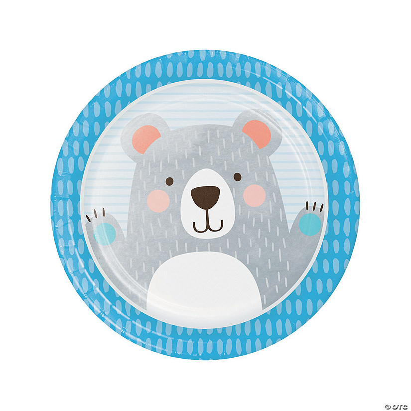 Happy Bear Round Paper Dinner Plates Audio Thumbnail