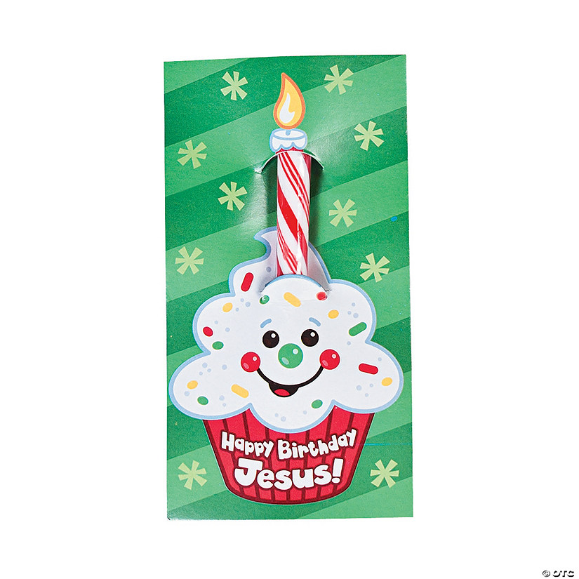 """Happy Birthday Jesus!"" Candy Sticks on Card Audio Thumbnail"