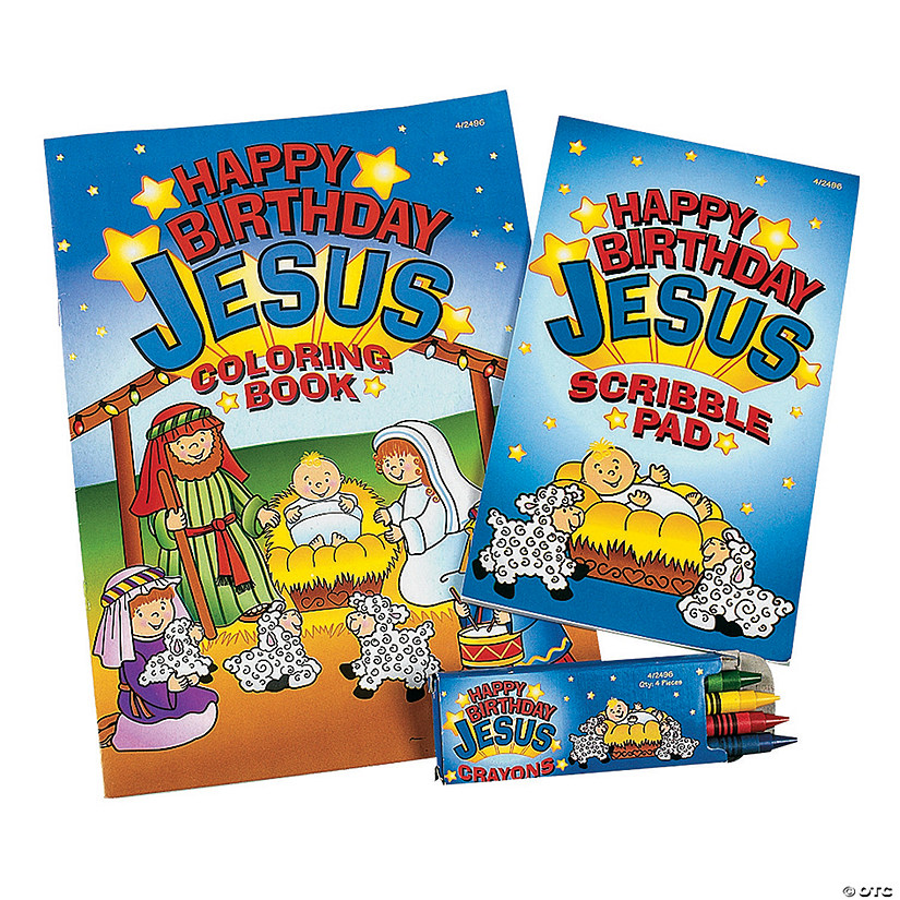 Happy Birthday Jesus Coloring Sets