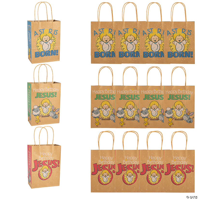 Happy Birthday Jesus Kraft Gift Bags