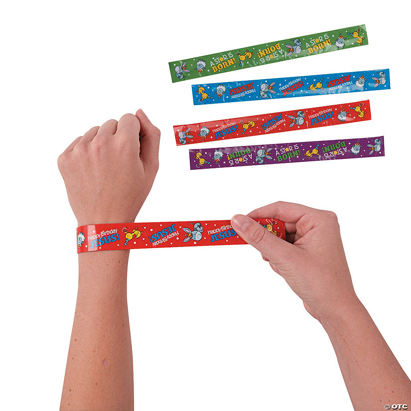 Happy Birthday Jesus Slap Bracelets