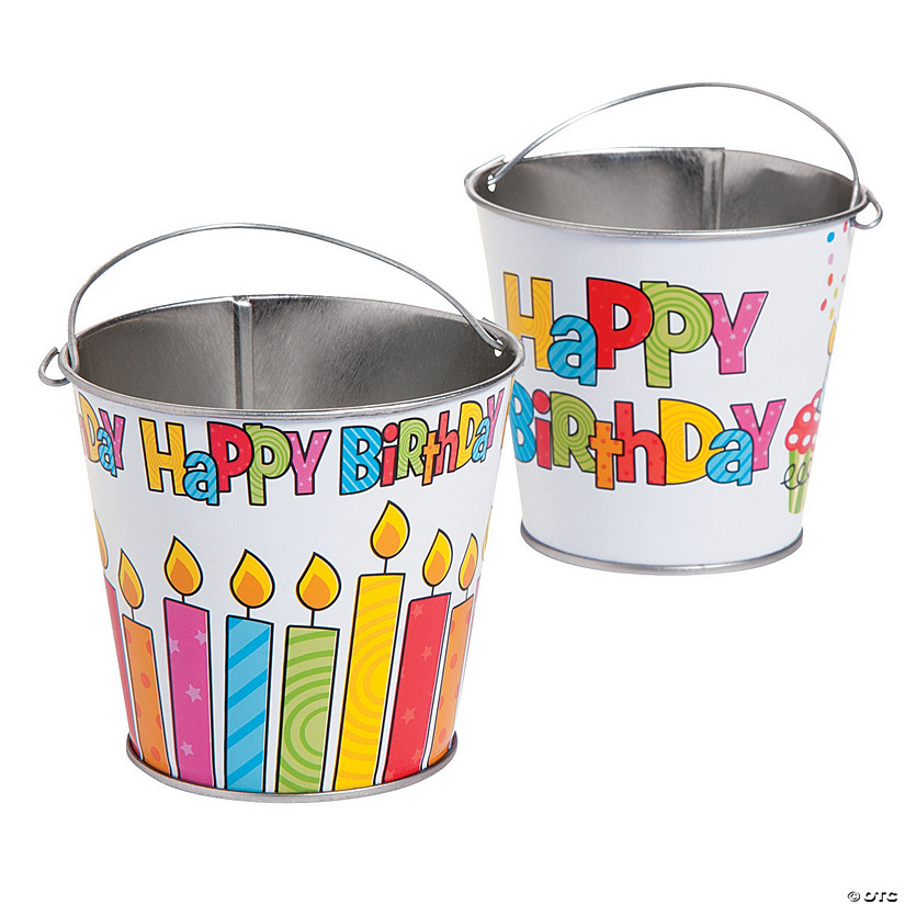 """Happy Birthday"" Pails"