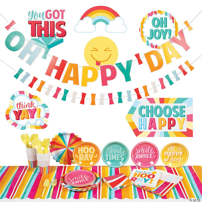 Happy Day Party Tableware Kit for 16 Guests Image Thumbnail