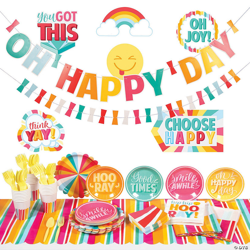 Happy Day Party Tableware Kit for 24 Guests Image Thumbnail