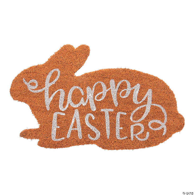 Happy Easter Bunny Coir Mat Image Thumbnail