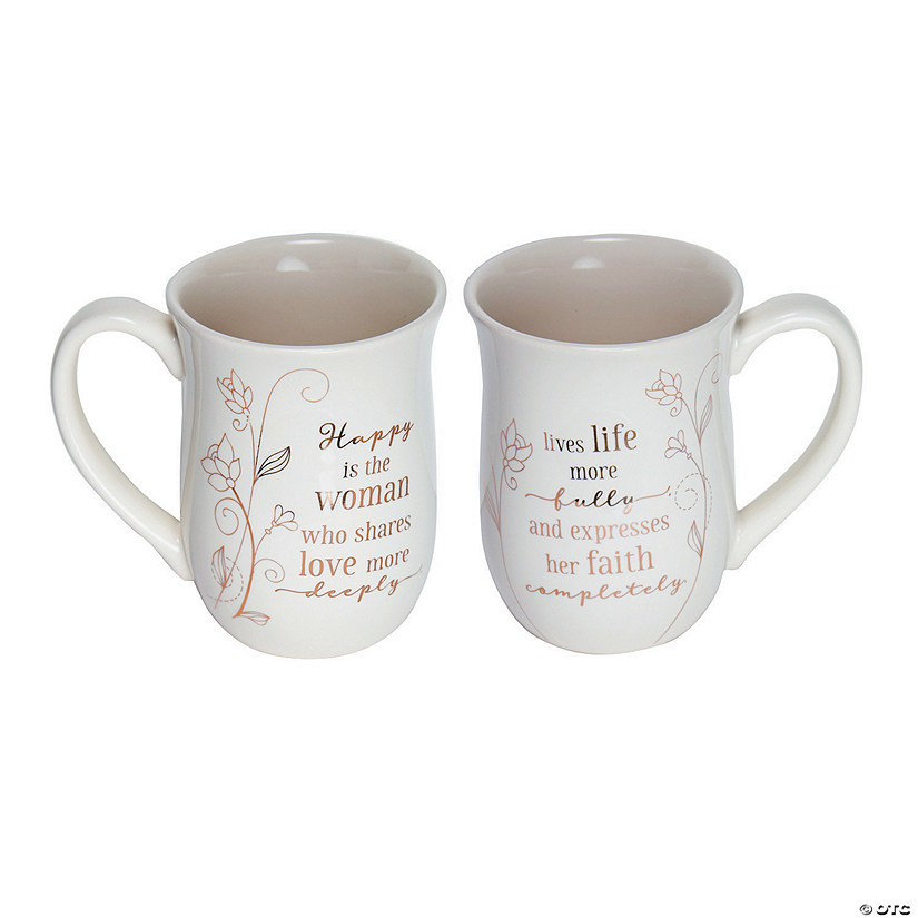 Happy Is the Woman Ceramic Mug Audio Thumbnail