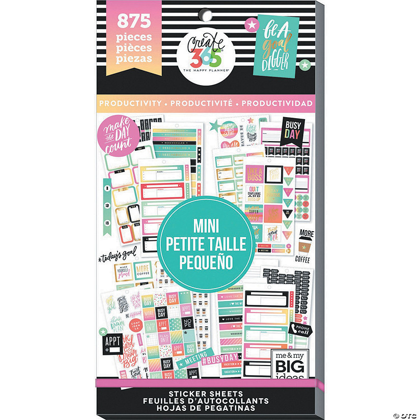 Happy Planner Sticker Value Pack-Productivity - Mini, 875/Pkg