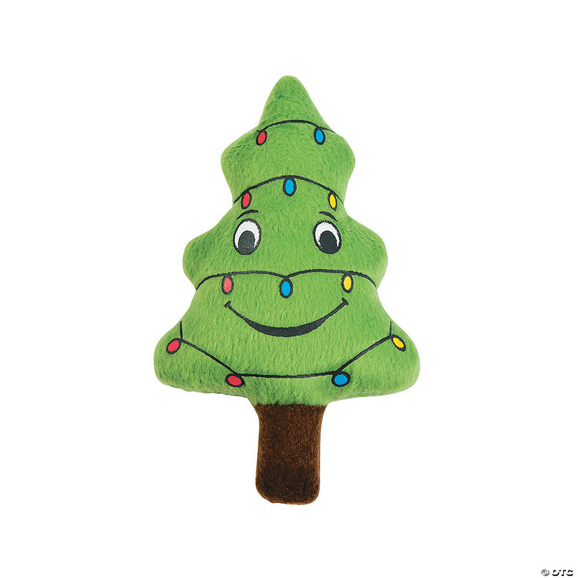 Happy Plush Christmas Tree with Lights Image Thumbnail