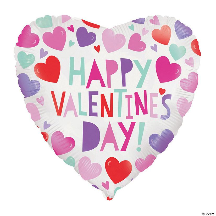 Happy Valentine S Day Hearts 8 Mylar Balloon Oriental Trading