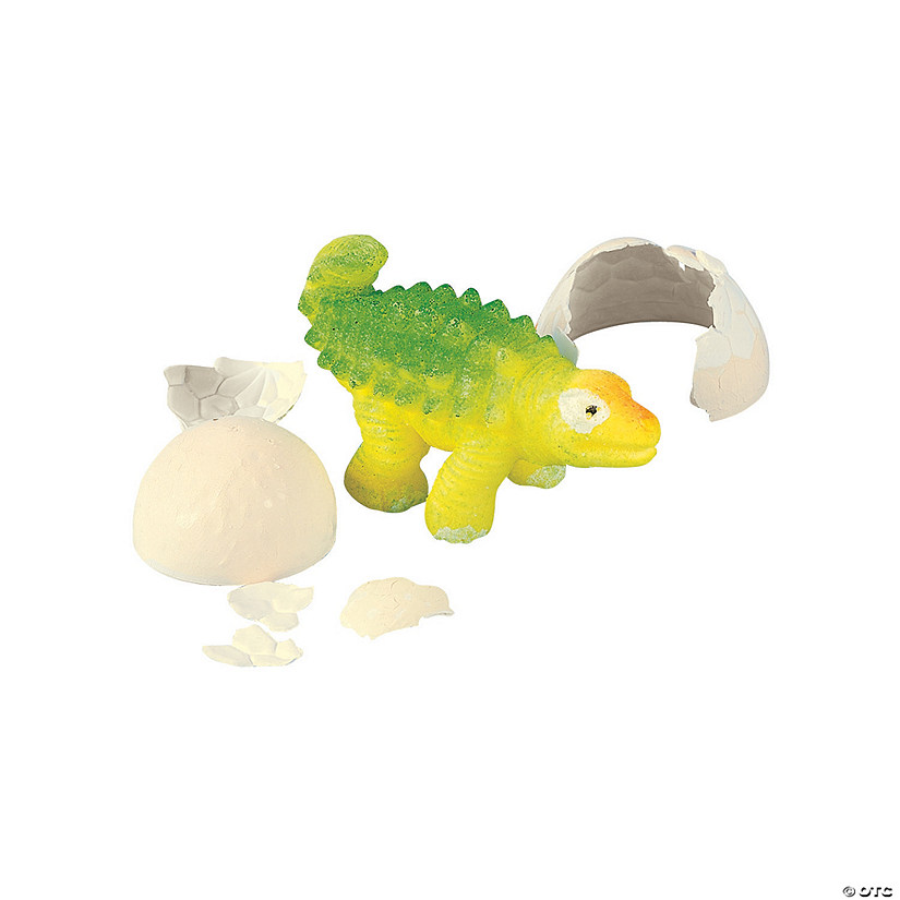 Hatching Dinosaur Rubber Egg Set - 6 pc.