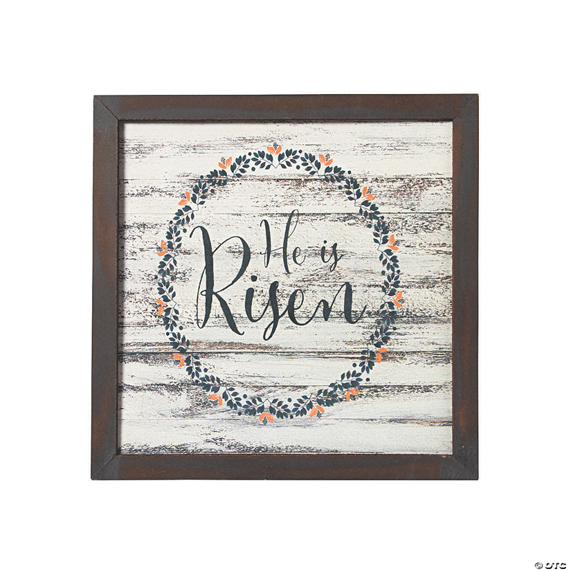 He Is Risen Rustic Wall Sign Image Thumbnail