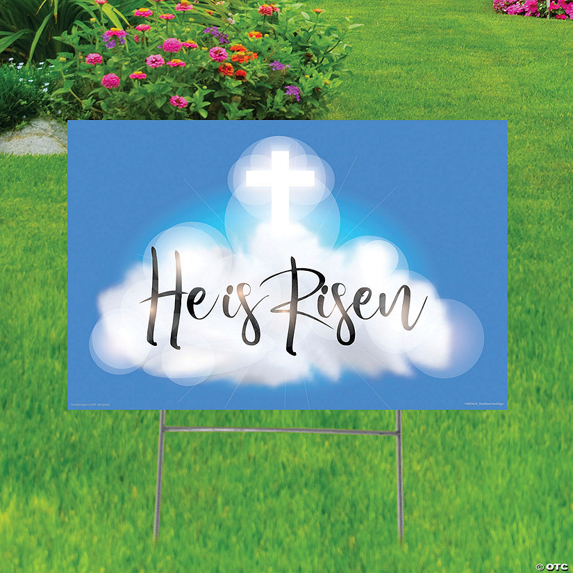 He Is Risen Yard Sign Image Thumbnail
