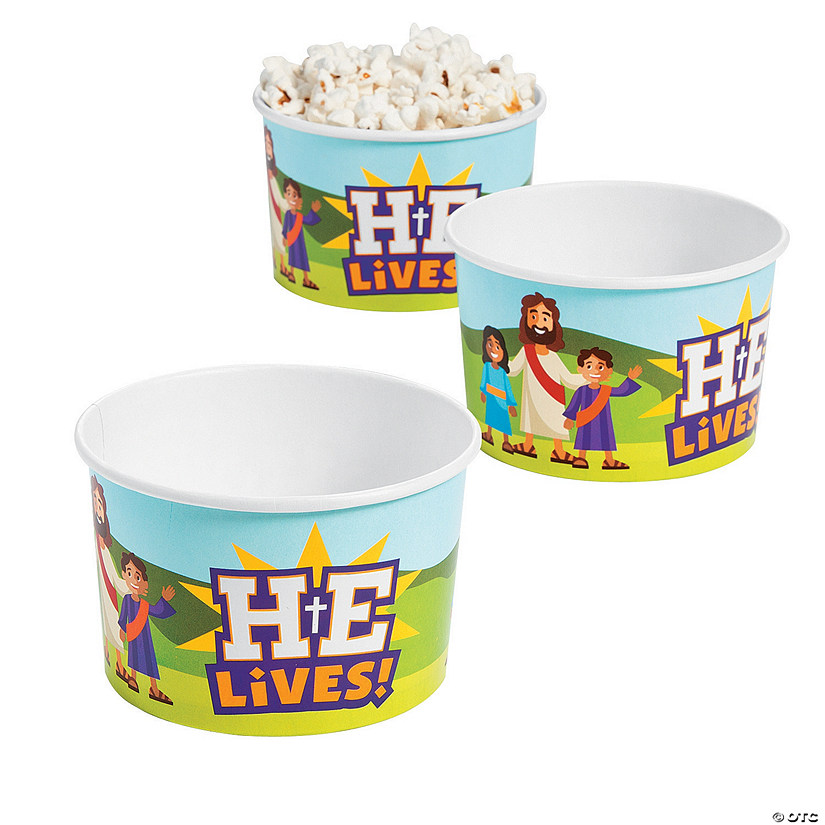He Lives Snack Cups