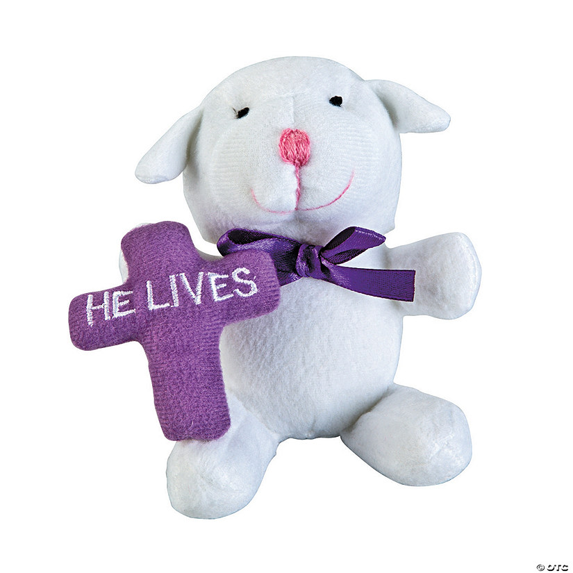 """He Lives"" Stuffed Lambs"