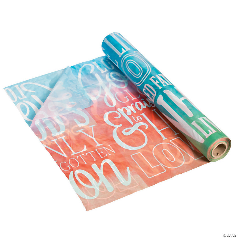 He Lives Watercolor Plastic Tablecloth Roll Image Thumbnail