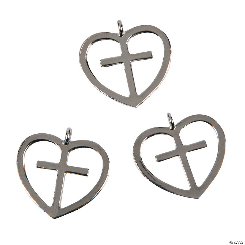 Heart Cross Charms