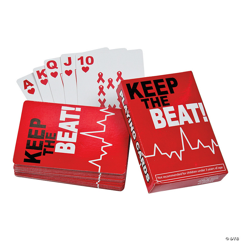 Heart Health Awareness Playing Cards