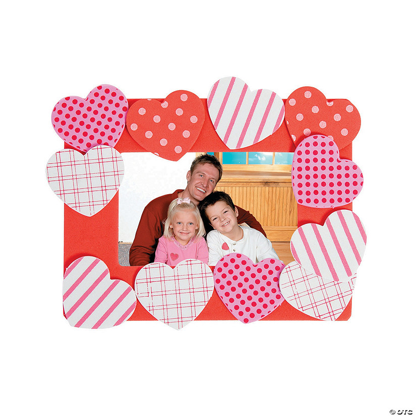 Heart Picture Frame Magnet Craft Kit Image Thumbnail