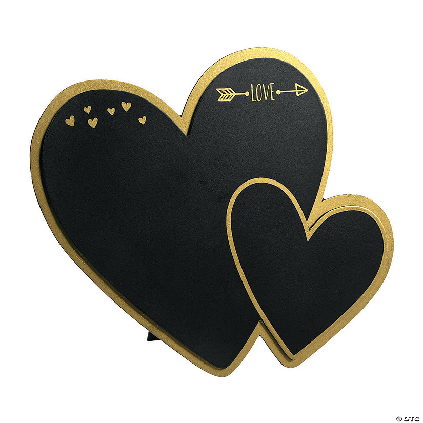 Heart-Shaped Chalkboard Sign