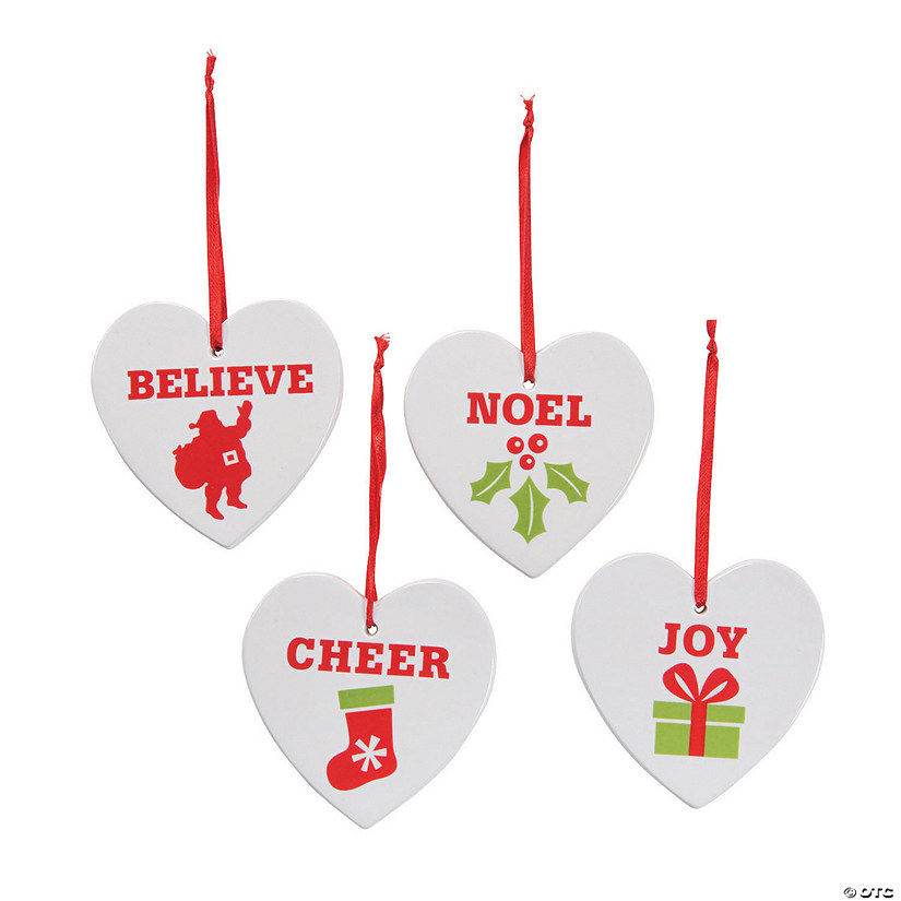 Heart-Shaped Christmas Ornaments