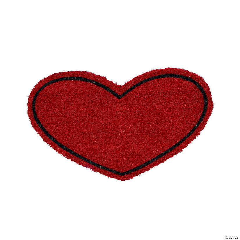 Heart-Shaped Door Mat