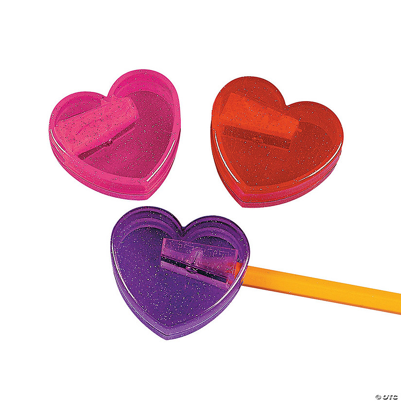 Heart-Shaped Pencil Sharpeners