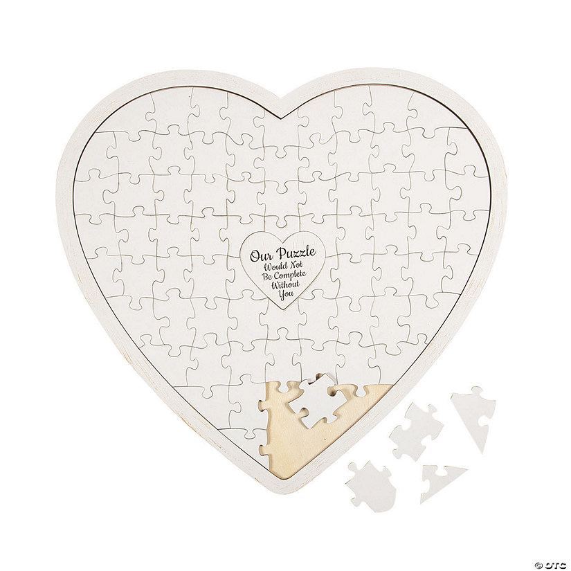 Heart-Shaped Puzzle Guest Book