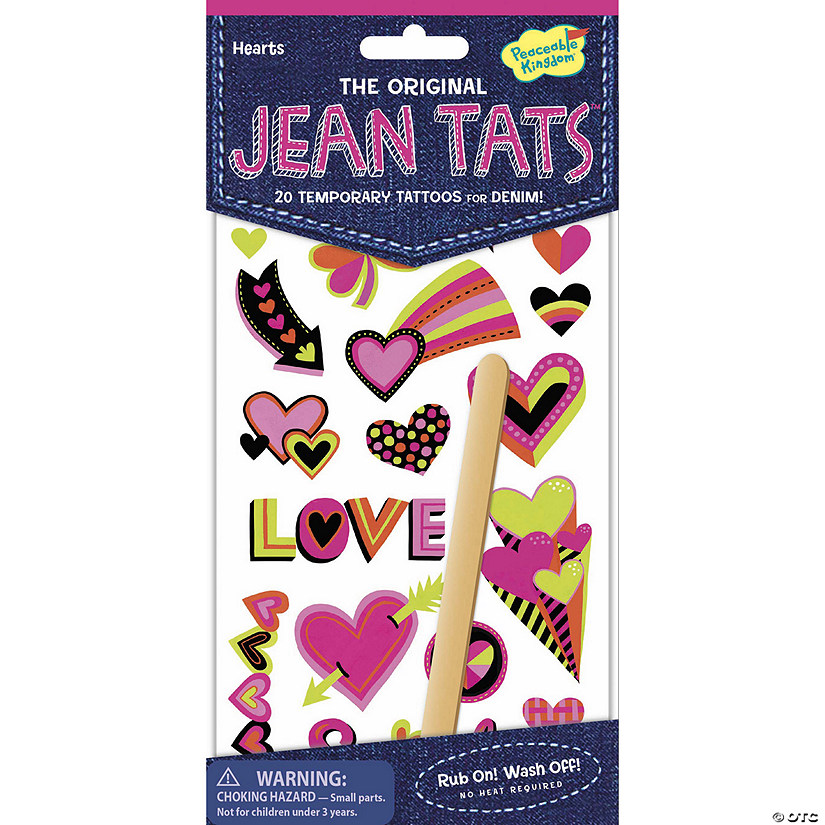 Hearts Jean Tats Pack