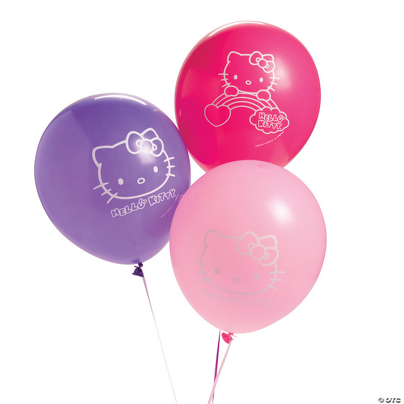 "Hello Kitty® Rainbow 12"" Latex Balloons Audio Thumbnail"