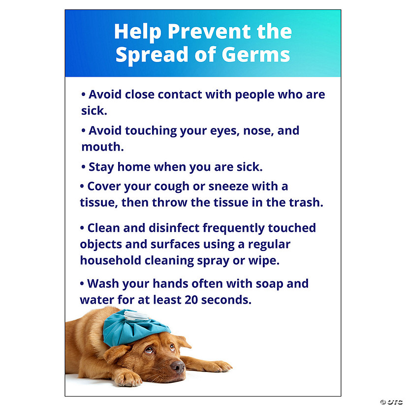 Help Prevent the Spread of Germs Peel & Stick Decals Image Thumbnail