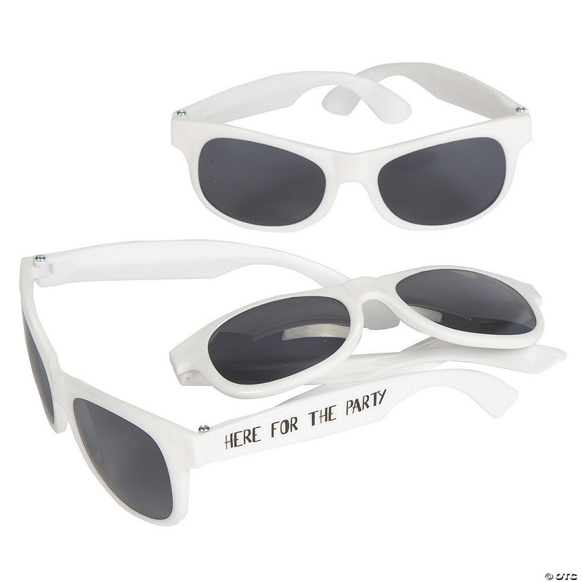 Here for the Party White Nomad Sunglasses Image Thumbnail