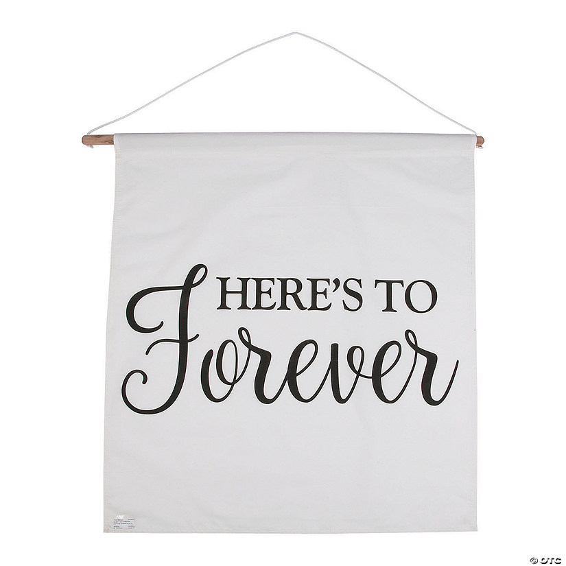 Here's to Forever Wedding Cotton Banner Audio Thumbnail