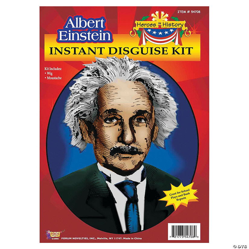 Heroes in History: Albert Einstein Wig & Mustache Costume Audio Thumbnail