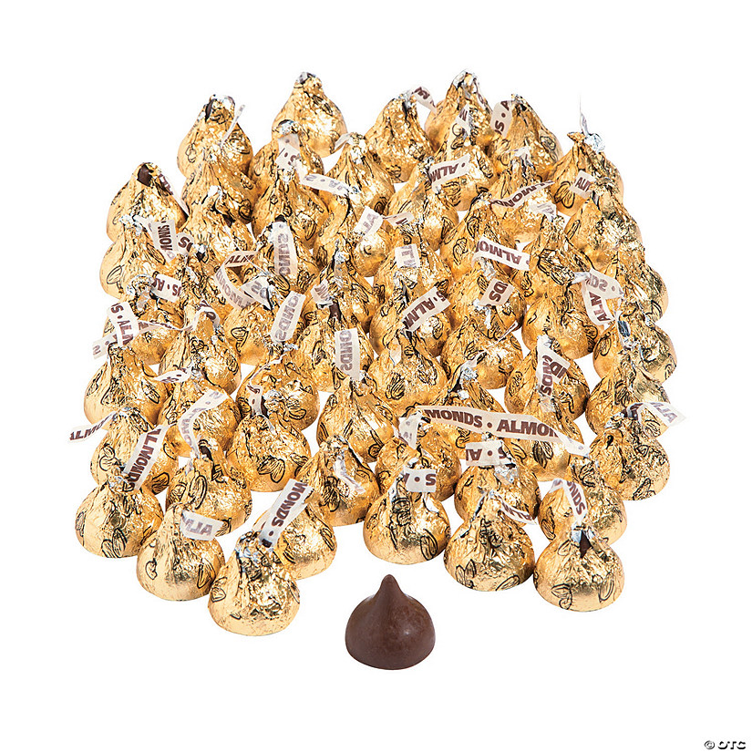 Hershey's® Kisses® 400 Pc. Gold Almond Chocolate Candy Image Thumbnail