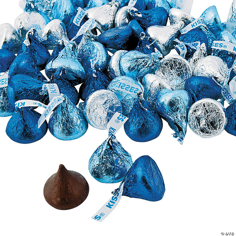 Hershey's® Kisses® Blue & Silver Chocolate Candy